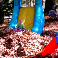 sliding into leaves, kid friendly things to do CT,places to go with children Connecticut,kid friendly things to do Connecticut