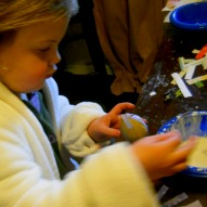 A fun thing to do with kids, An Easter Craft, Easter tree ornaments, Paper Mache Egg Craft with kids, Craft with kids, fun thing to do with kids in Connecticut