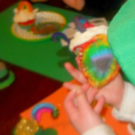 A fun thind to do with kids, Cooking with kids, Kid friendly recipe, St. Patrick's Day recipe, Rainbow cupcake, St. Patrick's Day idea